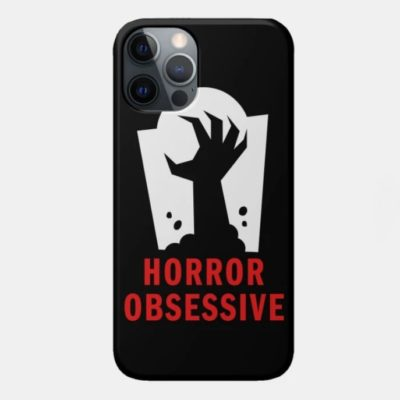 Phone case with Horror Obsessive logo