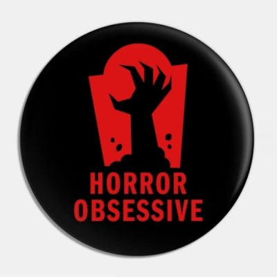 Pin with Horror Obsessive logo