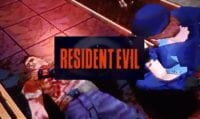 Injured guy on ground, woman tends to him. Title card reads: Resident Evil