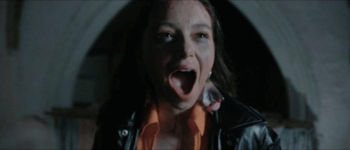 Amelia screams in horror