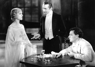 Murder Legendre (Lugosi) presenting his zombie bride