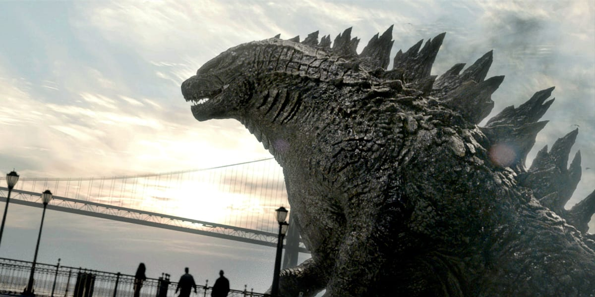 Godzilla walking out to sea