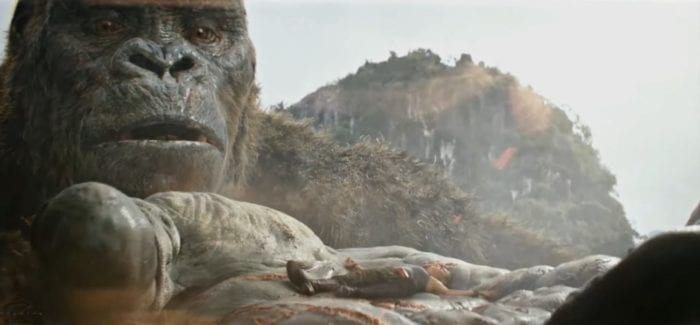 Kong Holding Mason Weaver in his hand