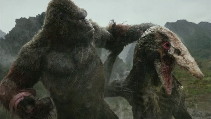 Kong holding a defeated skull crawler