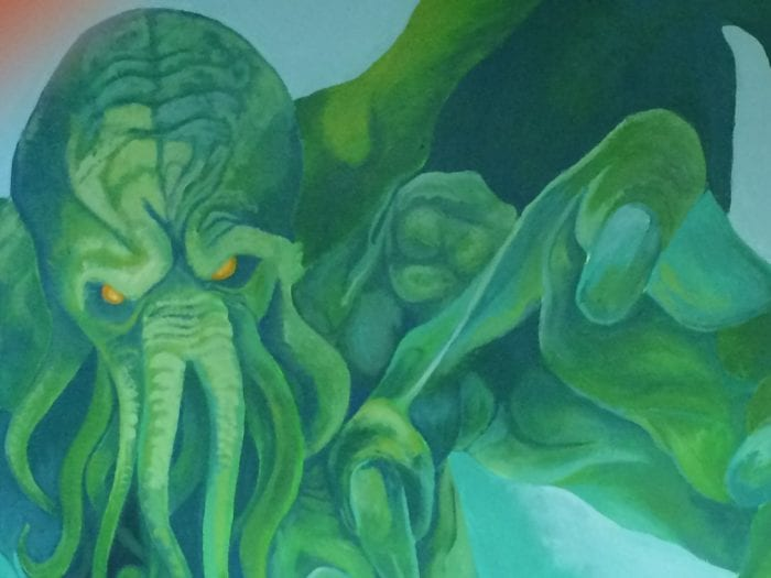 A painting of the octopoid monster Cthulhu