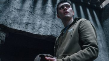 Jack Rowan as Eugene Moffat, considering an old skull found on family property