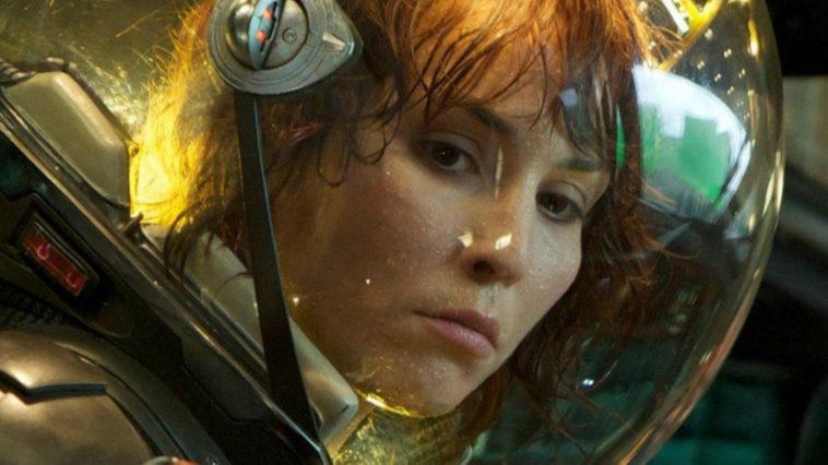 Dr. Elizabeth Shaw in a spacesuit in the film, Prometheus.