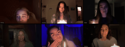 A séance takes place over zoom