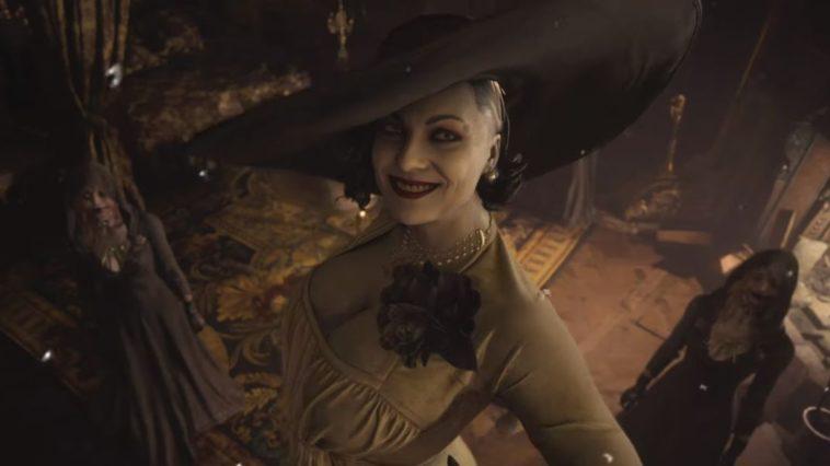 Big vampire lady smiling to the camera, loving life.