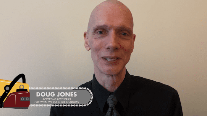Doug Jones presents at the Chainsaw Awards