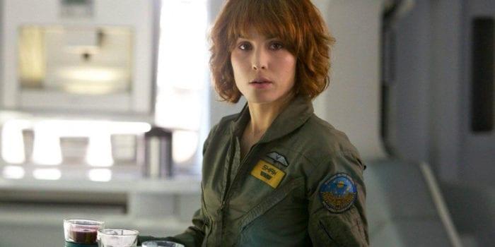 Noomi Rapace as Dr. Elizabeth Shaw in the sci-fi horror film, Prometheus.