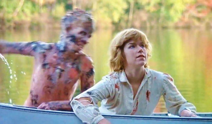Friday the thirteenth Jason attacking Alice
