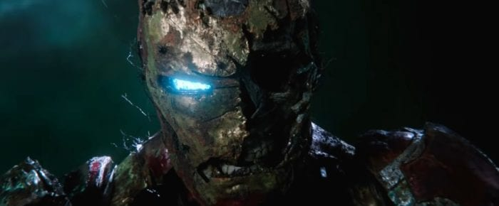 Zombie Iron Man looking sinister