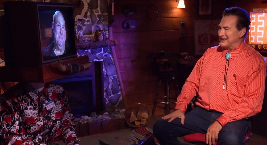 Joe Bob and William Lustig talking via satellite