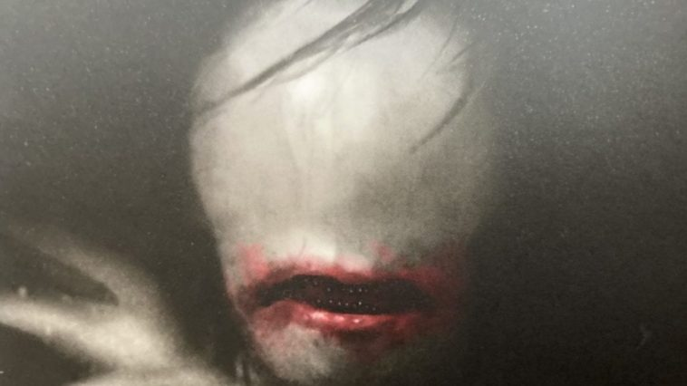 Close up of the ohaguro-betarri on the cover of Nothing But Blackened Teeth