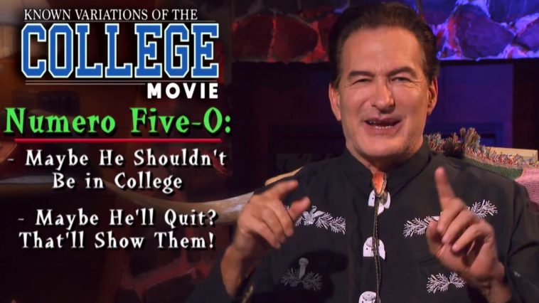 Joe Bob listing College Movie film types