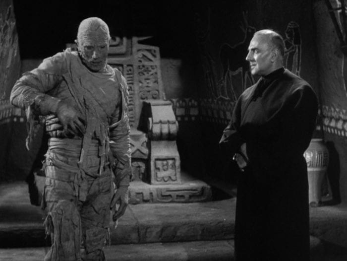 The mummy and his caretaker