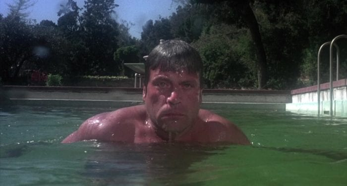 Ben Rolf coming after his son in the pool