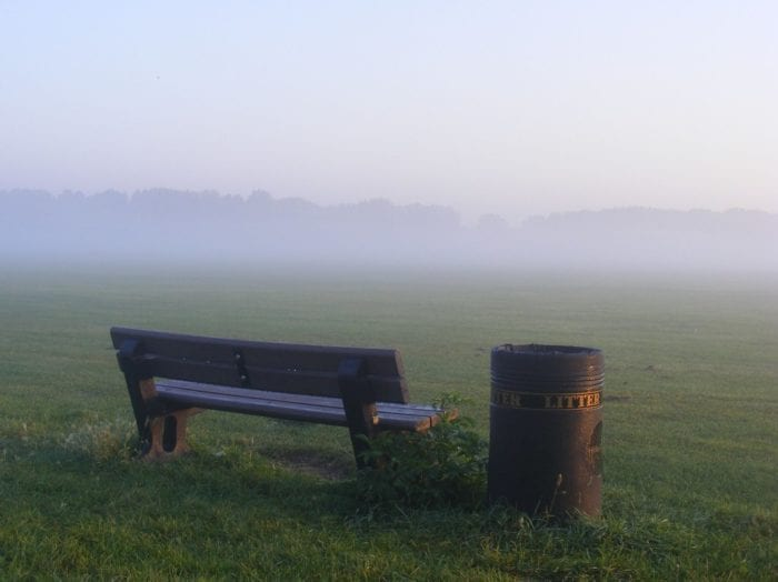 """""""Hackney marshes, early morning october 1 2011"""" by sludgegulper is licensed under CC BY-SA 2.0"""