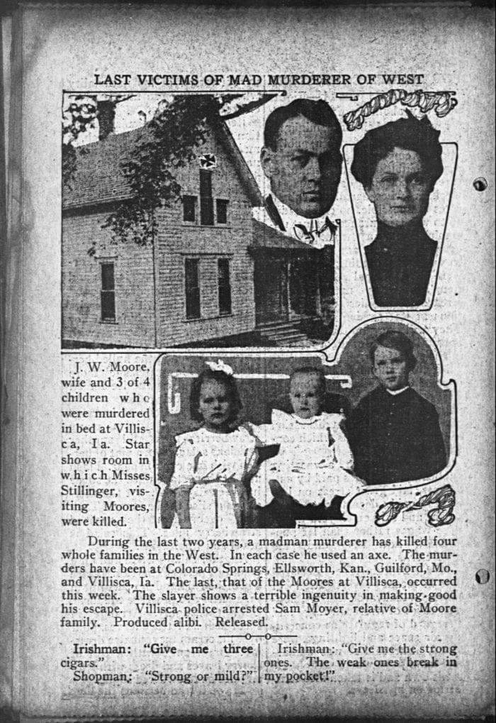 Article regarding Villisca Axe Murder
