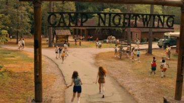 Kids in and around the Camp Nightwing Entrance