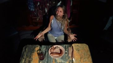 Marilyn Burns strapped to a table in the original Texas Chainsaw Massacre