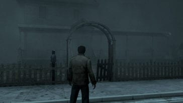 Alex stands outside his home on a fog ridden street