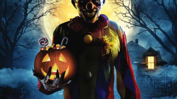 The Clown Demon stands ominously for the cover art of Bad Candy