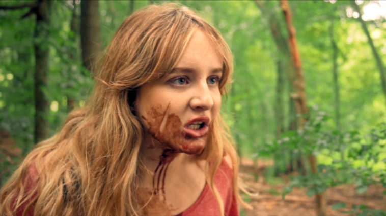 Maya with blood on her face