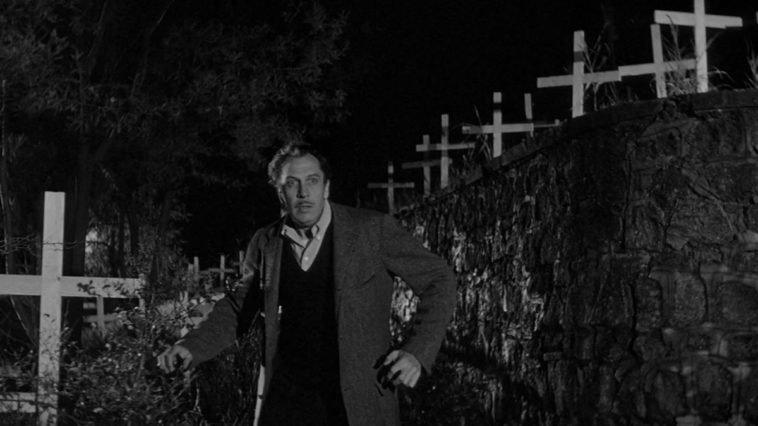 Vincent Price in the Last Man on Earth, an adaptation of Richard Matheson's I Am Legend