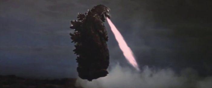 Godzilla flying