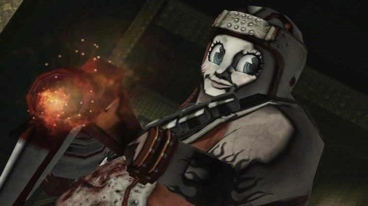 Matt Helms in No More Heroes 2. He wears a creepy smiling mask and is covered in blood