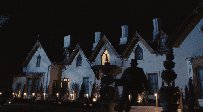 The Galloway house sits forebodingly the dark waiting for the horrors to come