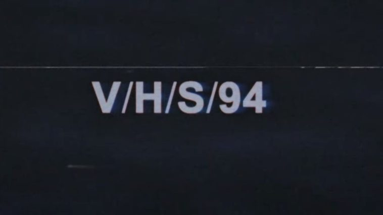 A brilliantly stylistic title card, in the vein of the original v/H/S title card