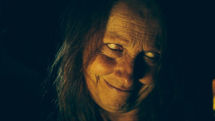 "Marina Parodi as ""the boogeywoman"" in Two Witches"