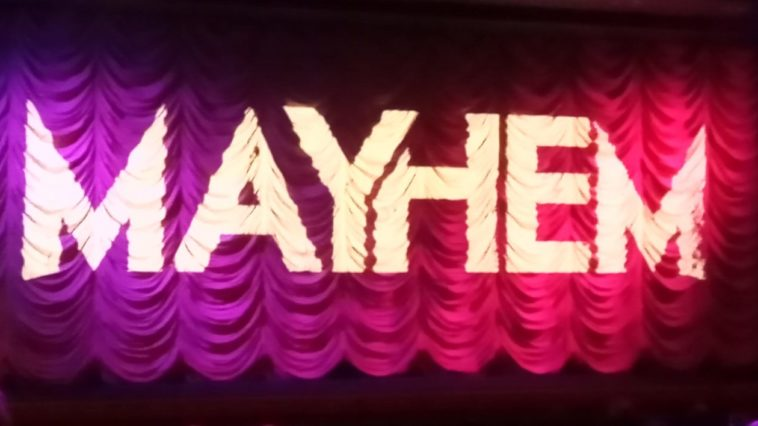 The curtain at Broadway Cinema, Nottingham, during Mayhem Film Festival