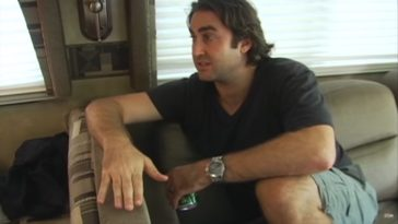 Bobby Roe in the RV talking Brandy into continuing the tour
