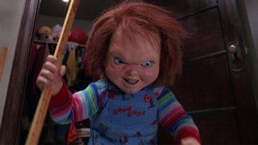 Chucky smiles while wielding a school ruler