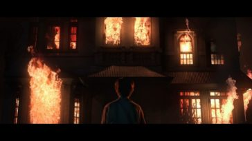A young man stares at his childhood home as it burns to the ground, from a fire he needed to start due to the evil lurking in the 4 walls