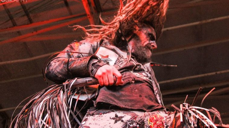 Rob Zombie performs on stage
